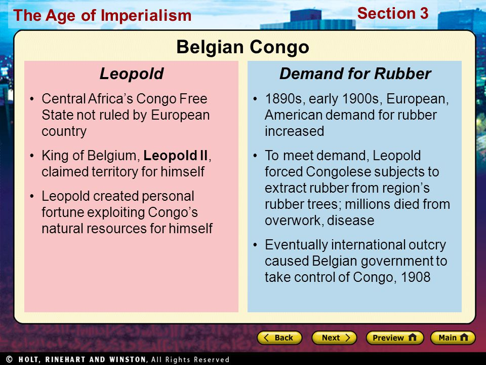 Belgian Congo Leopold Demand for Rubber