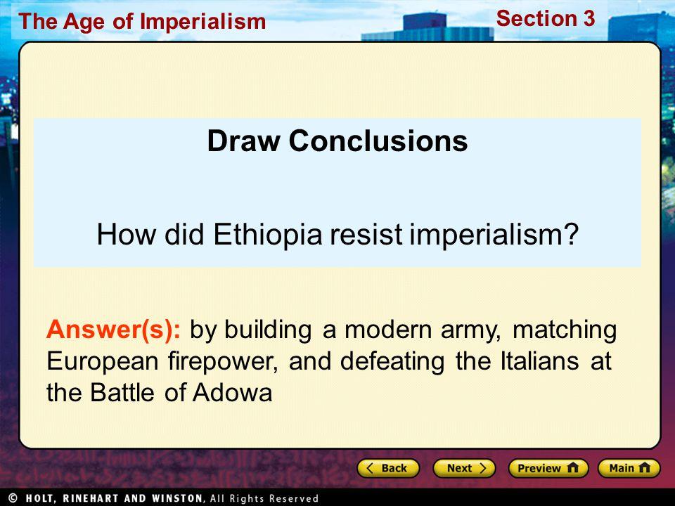 How did Ethiopia resist imperialism