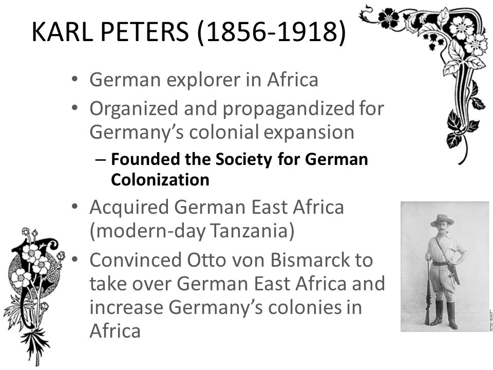 KARL PETERS (1856-1918) German explorer in Africa