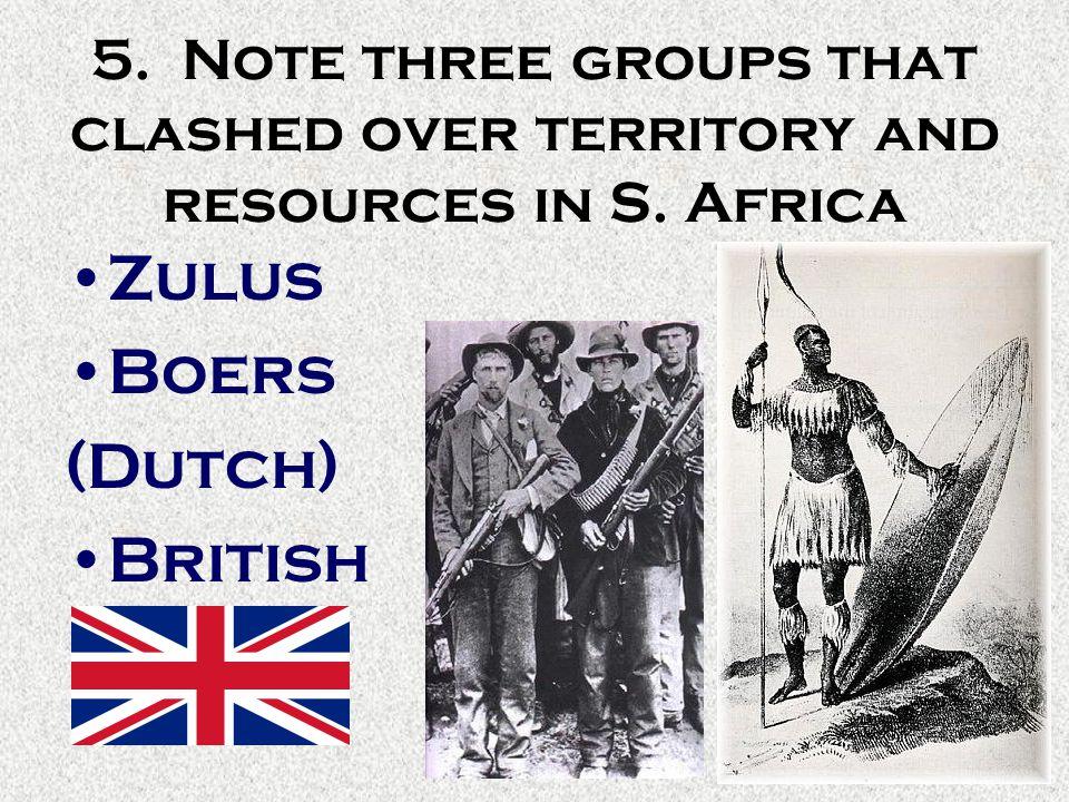 Zulus Boers (Dutch) British