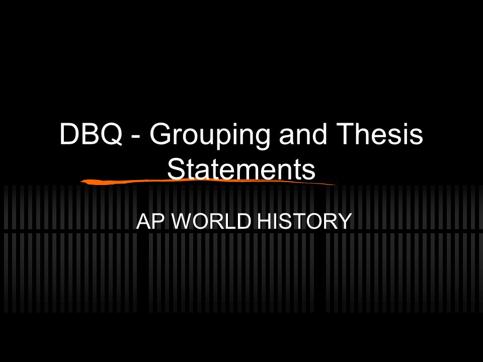 european history thesis statements