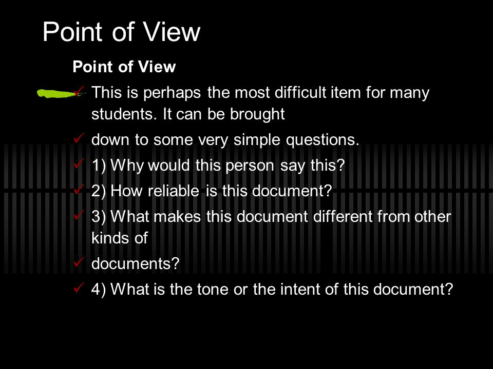 Point of View Point of View