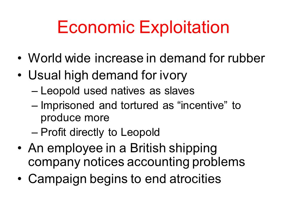Economic Exploitation
