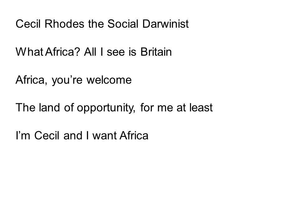 Cecil Rhodes the Social Darwinist