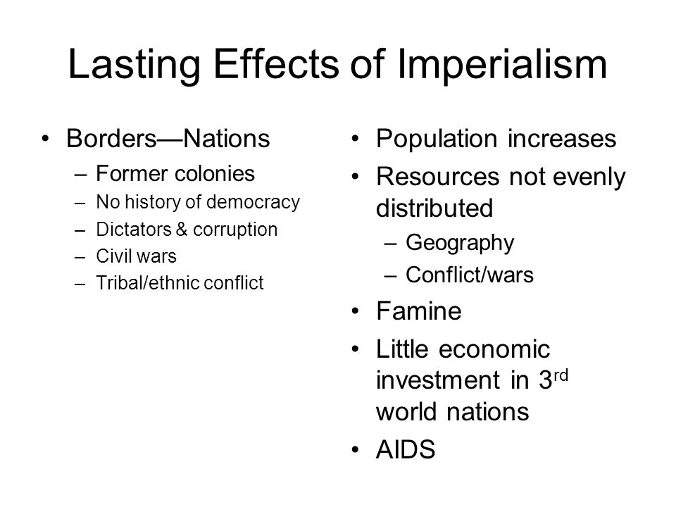 Lasting Effects of Imperialism