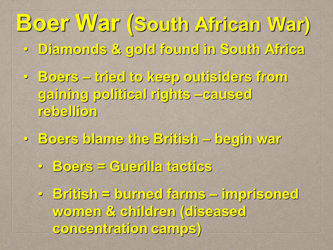 Boer War (South African War)