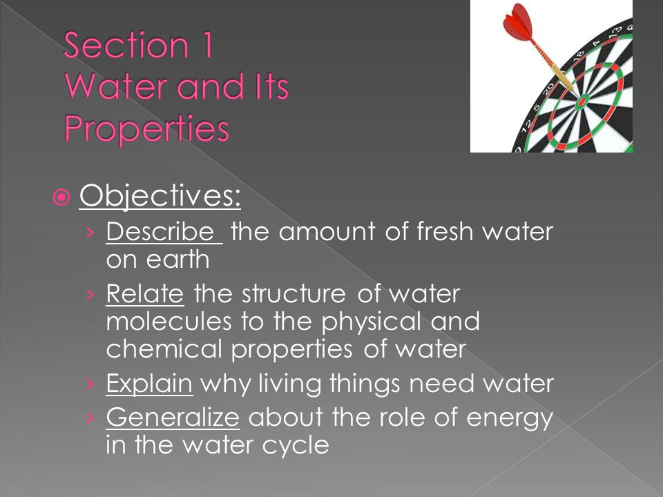 Section 1 Water and Its Properties