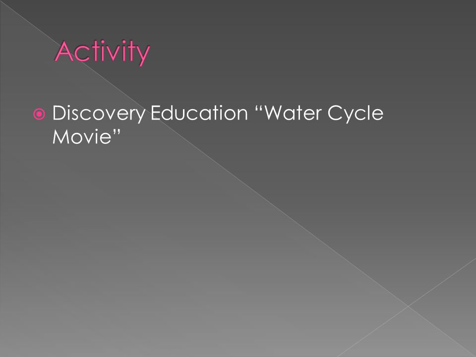 Activity Discovery Education Water Cycle Movie