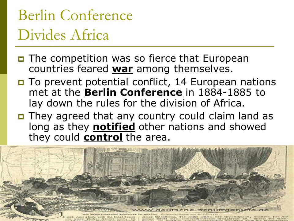 Berlin Conference Divides Africa
