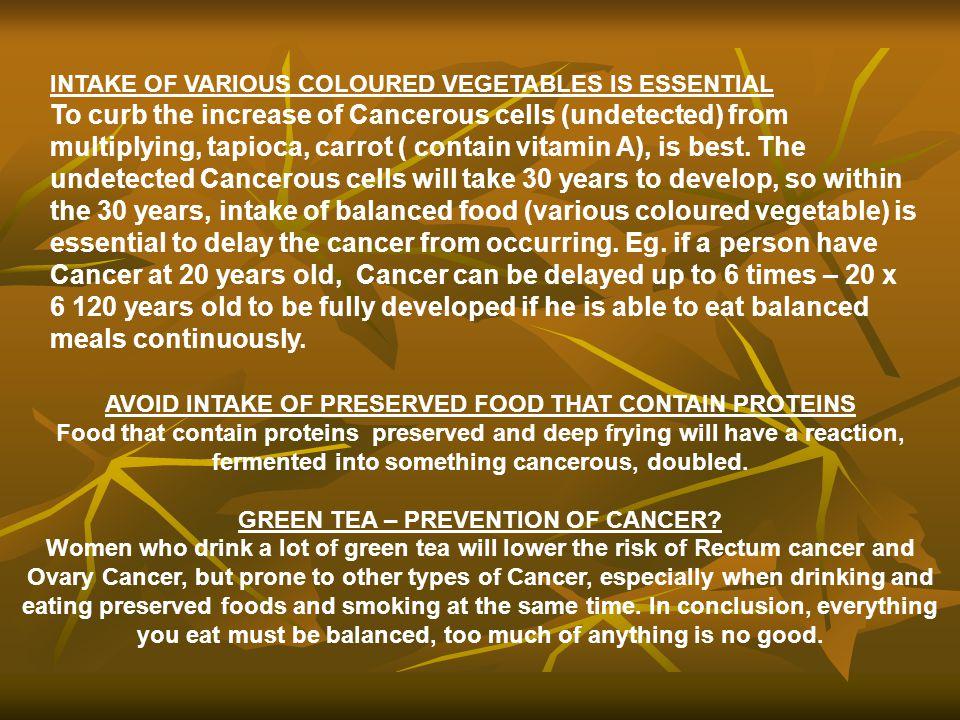 INTAKE OF VARIOUS COLOURED VEGETABLES IS ESSENTIAL
