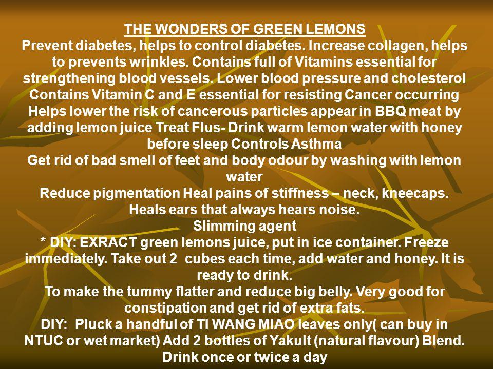 THE WONDERS OF GREEN LEMONS