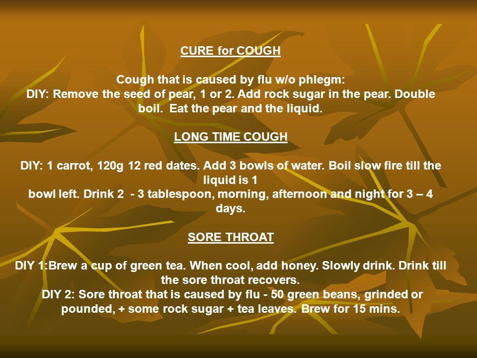 Cough that is caused by flu w/o phlegm: