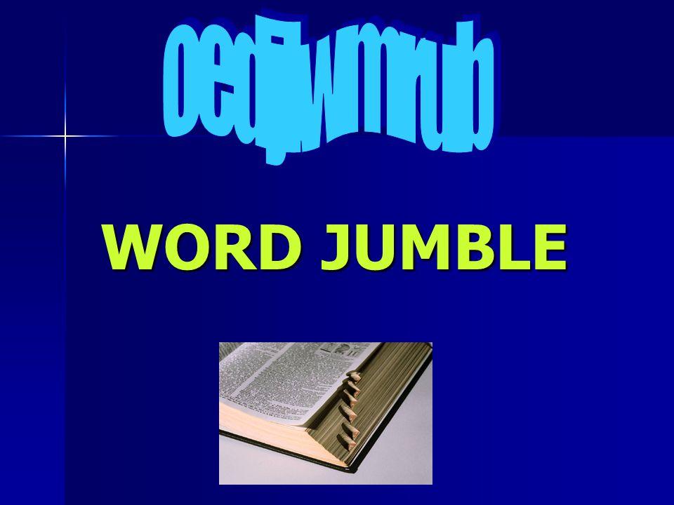 oedjlwmrub WORD JUMBLE