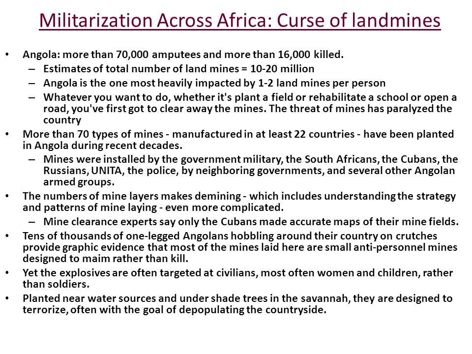 Militarization Across Africa: Curse of landmines