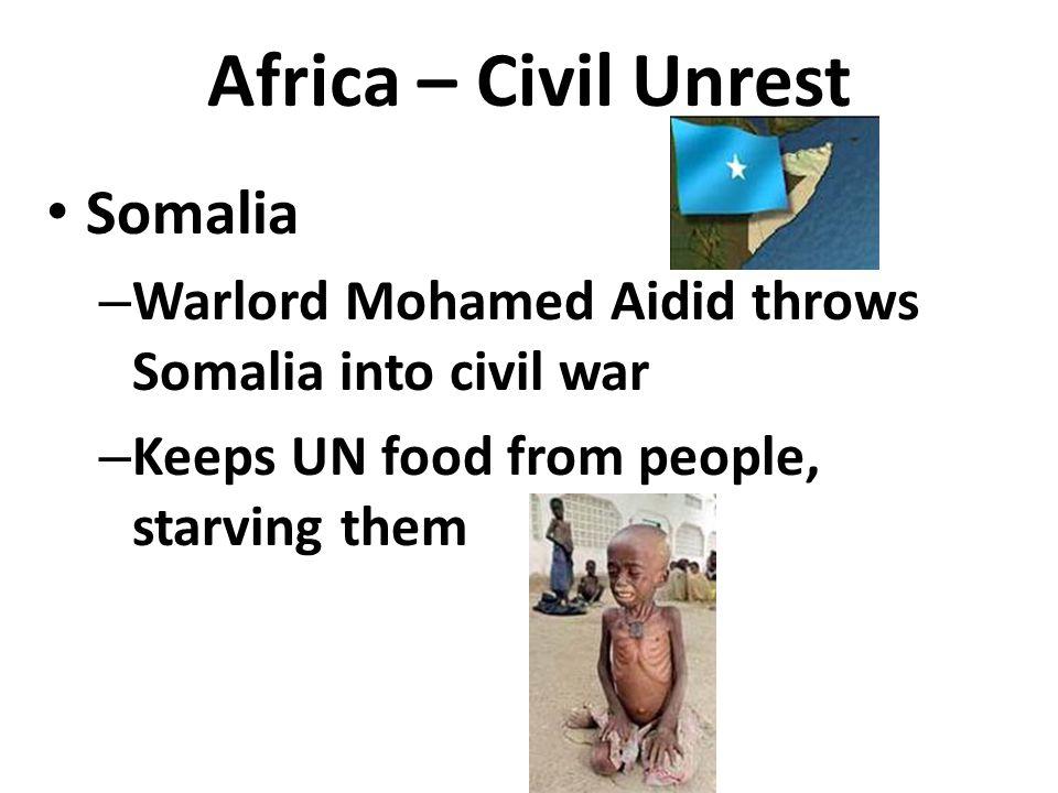 Africa – Civil Unrest Somalia