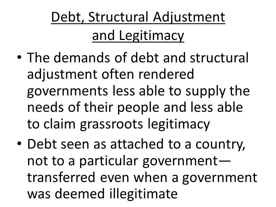 Debt, Structural Adjustment and Legitimacy