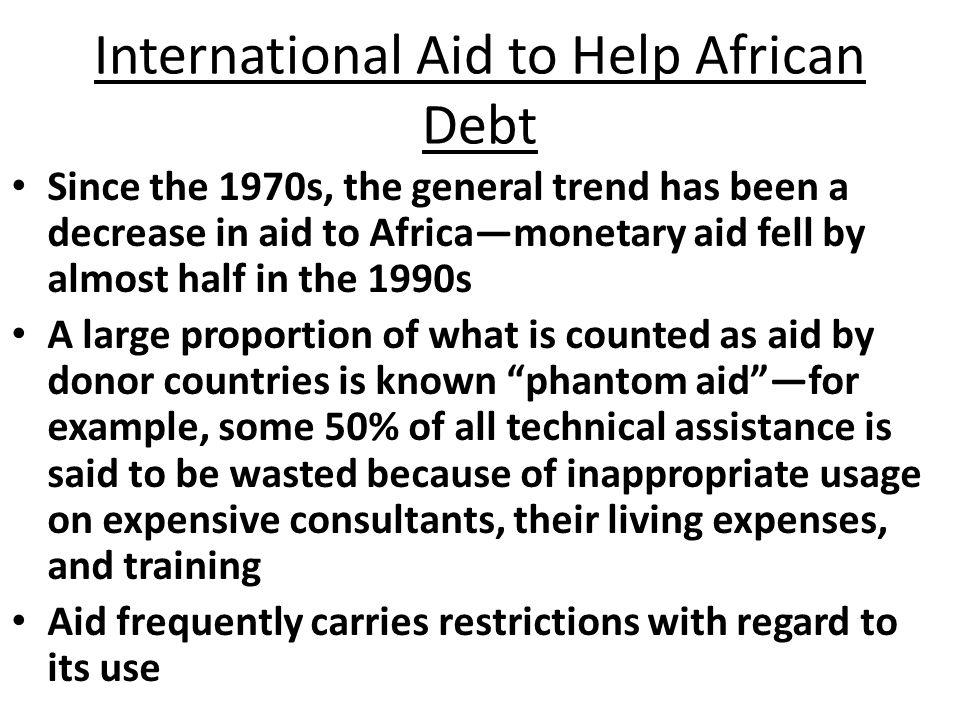 International Aid to Help African Debt