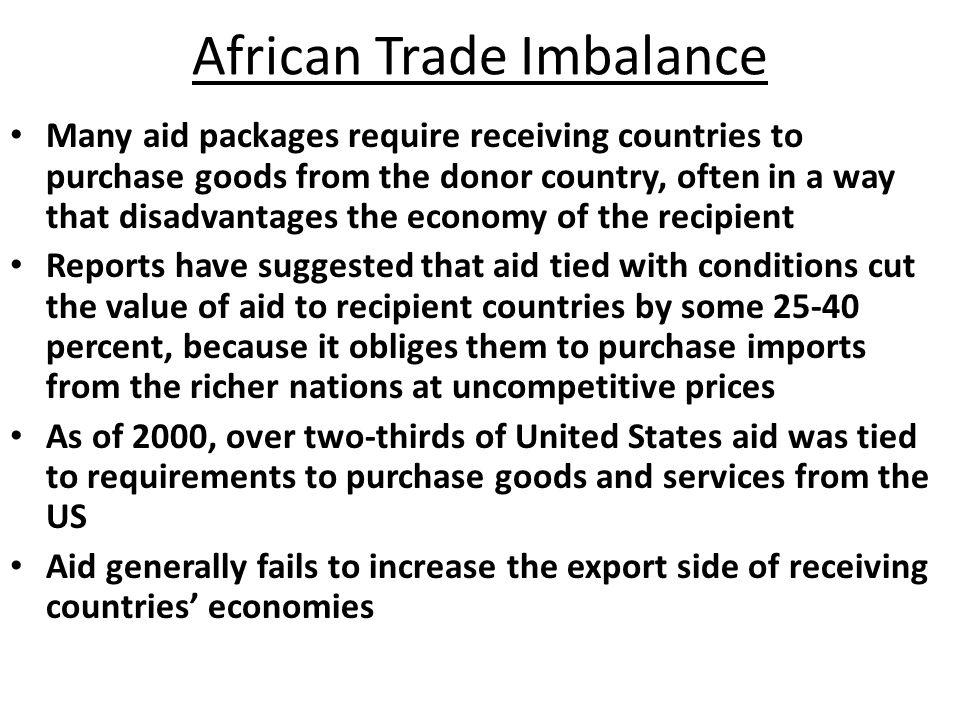 African Trade Imbalance