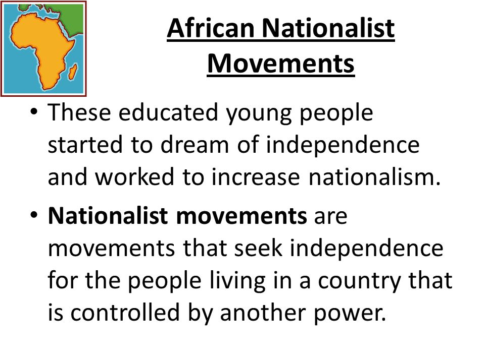 African Nationalist Movements