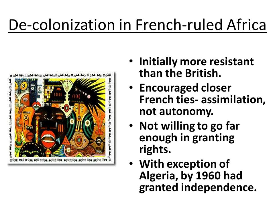 De-colonization in French-ruled Africa