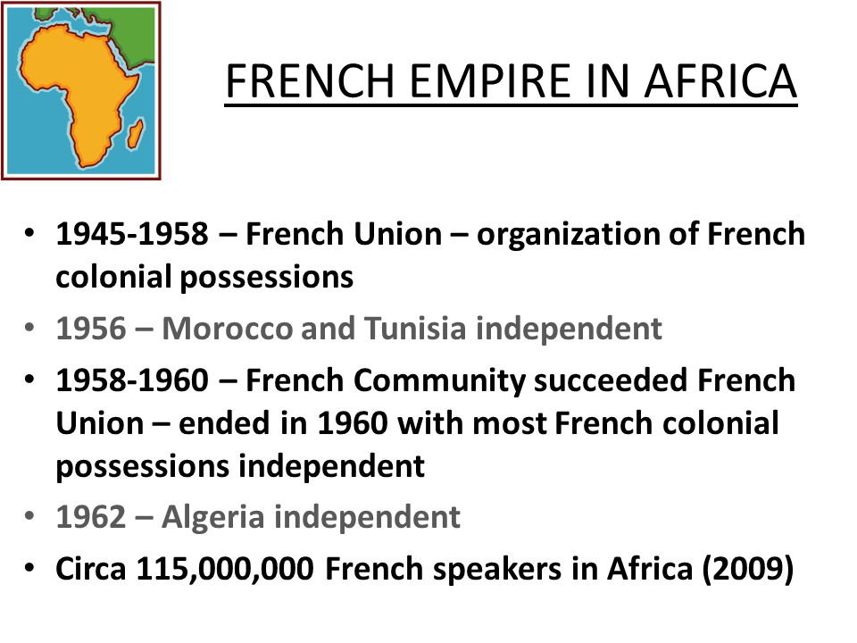 FRENCH EMPIRE IN AFRICA
