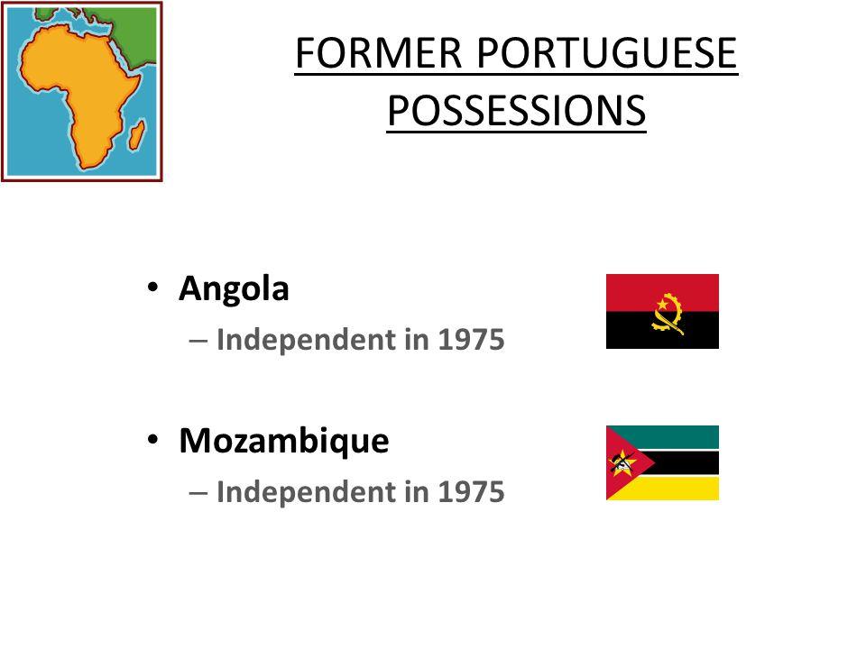 FORMER PORTUGUESE POSSESSIONS