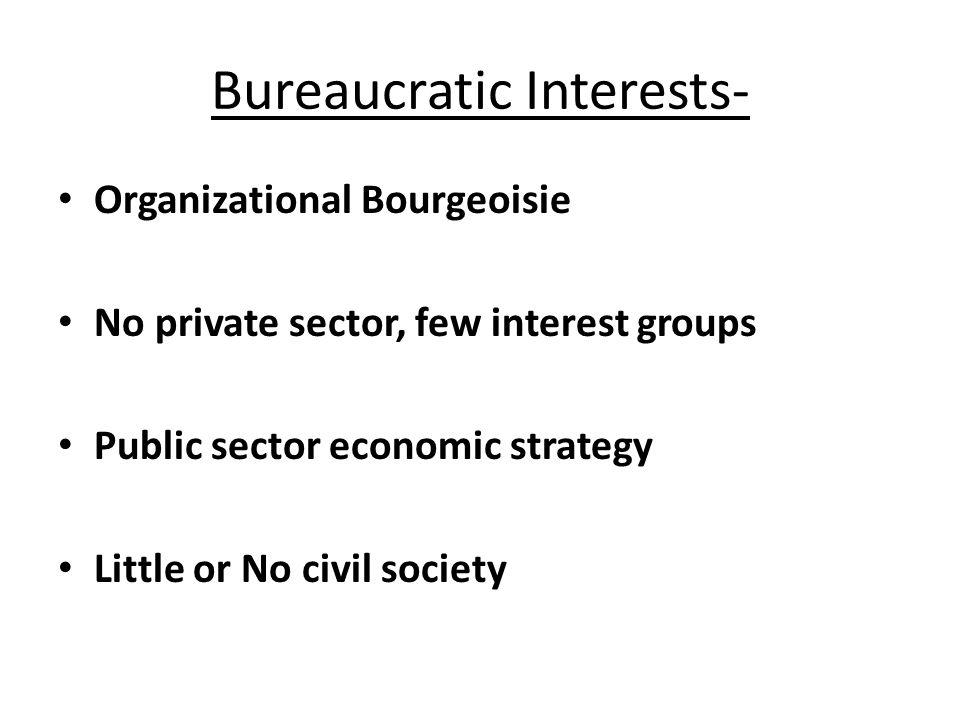 Bureaucratic Interests-