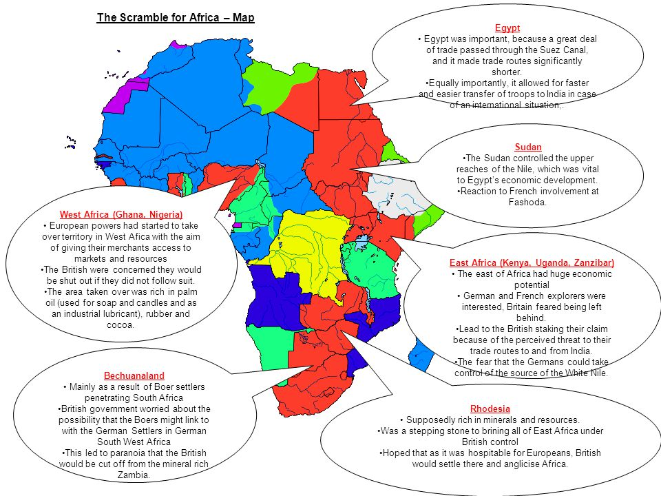 The Scramble for Africa – Map