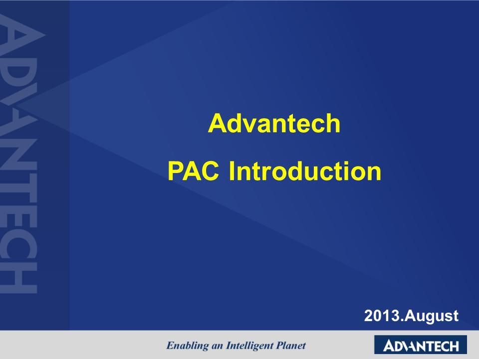 Advantech PAC Introduction