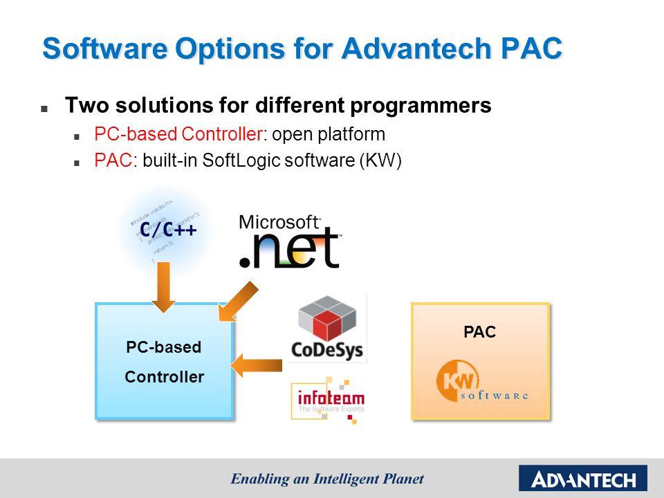 Software Options for Advantech PAC