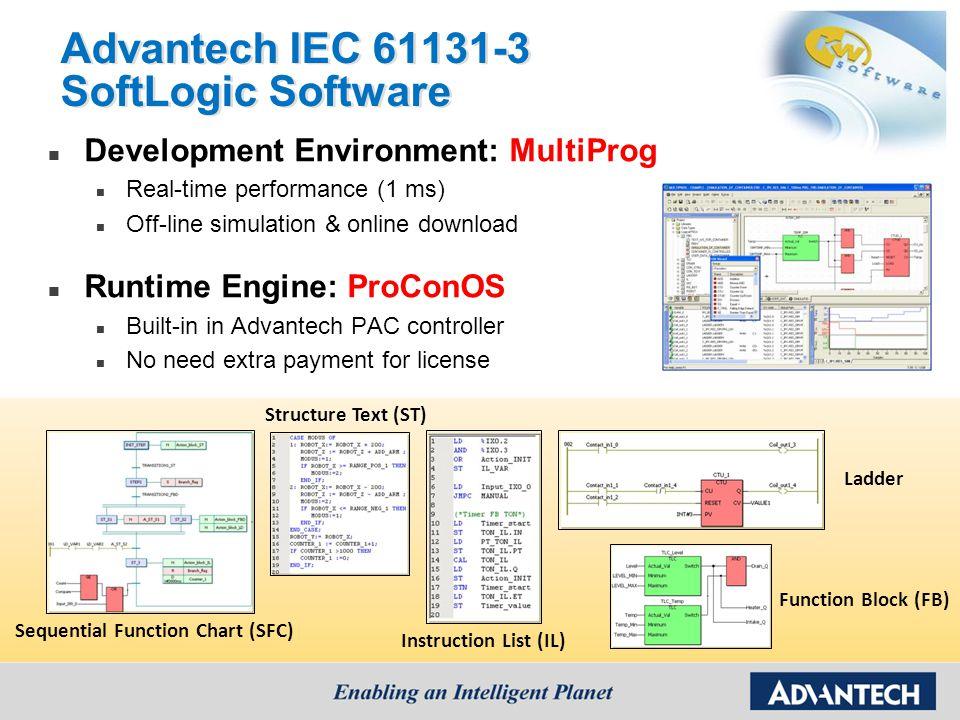 Advantech IEC 61131-3 SoftLogic Software