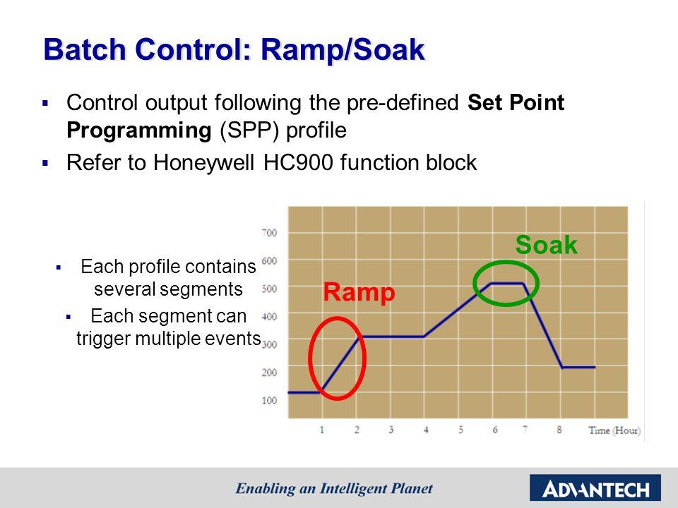 Batch Control: Ramp/Soak