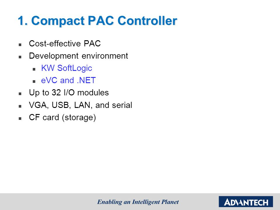 1. Compact PAC Controller