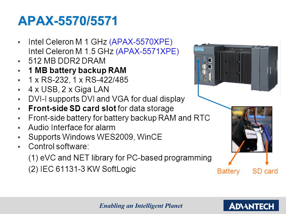 APAX-5570/5571 Intel Celeron M 1 GHz (APAX-5570XPE)