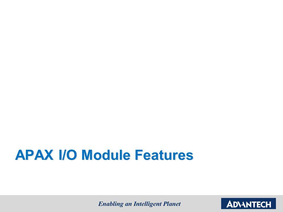 APAX I/O Module Features