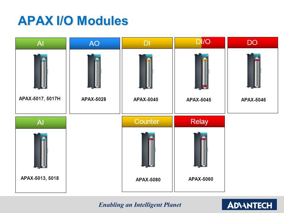 APAX I/O Modules AI AO DI DI/O DO AI Counter Relay APAX-5017, 5017H