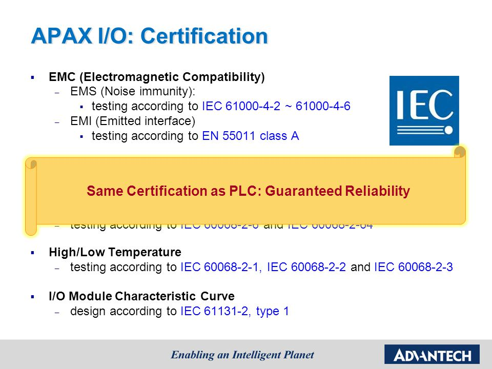 Same Certification as PLC: Guaranteed Reliability