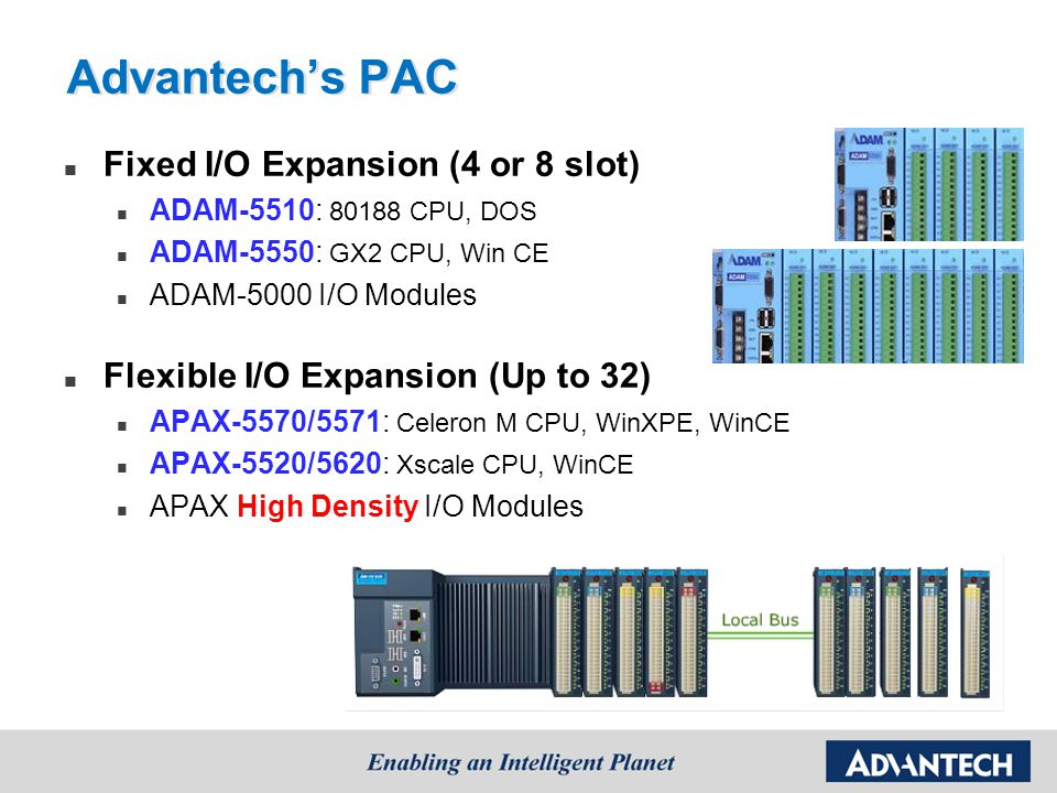 Advantech's PAC Fixed I/O Expansion (4 or 8 slot)