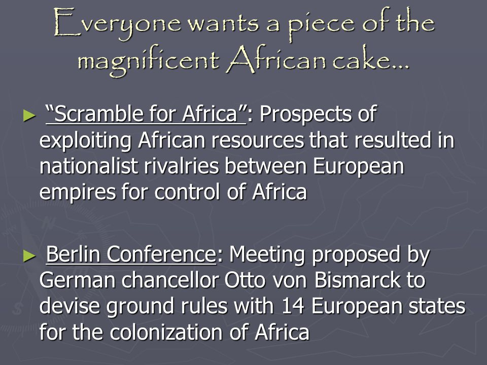 Everyone wants a piece of the magnificent African cake…