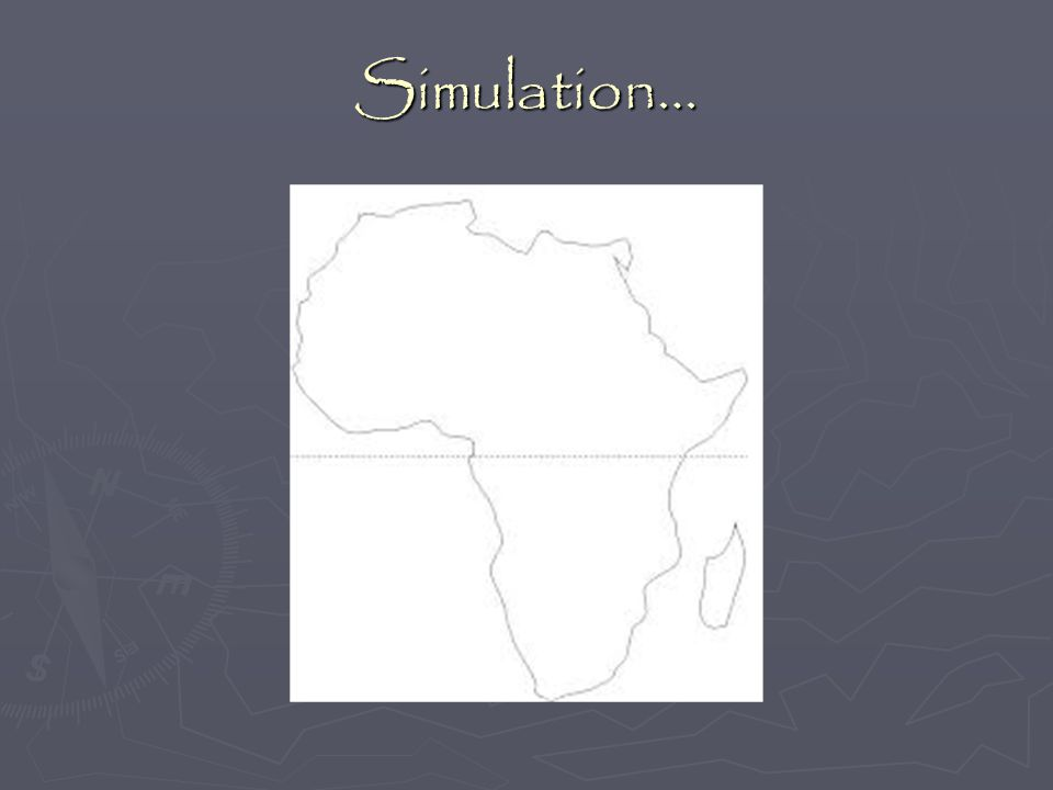 Simulation… Use Mimio map instead of this one.