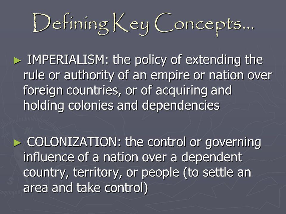 Defining Key Concepts…