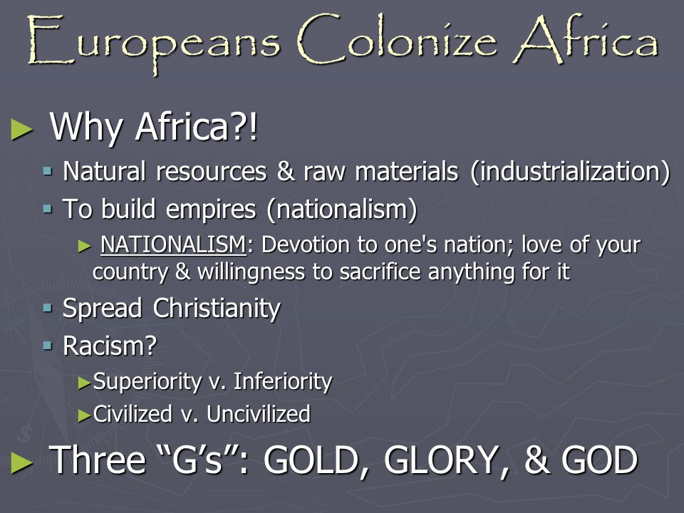 Europeans Colonize Africa