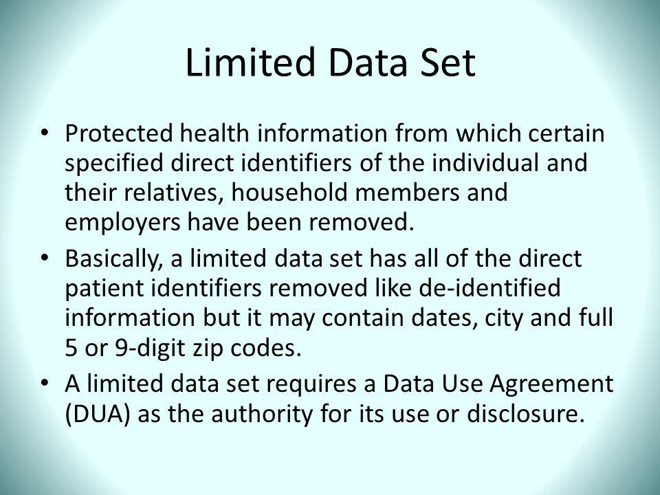 Limited Data Set