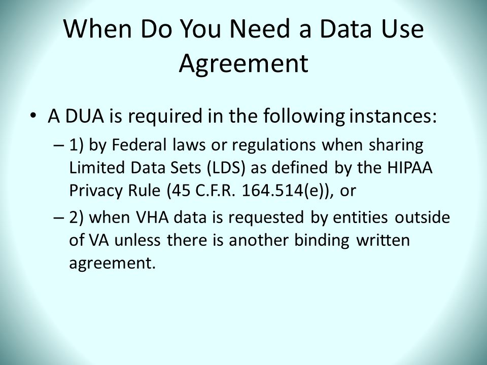 When Do You Need a Data Use Agreement