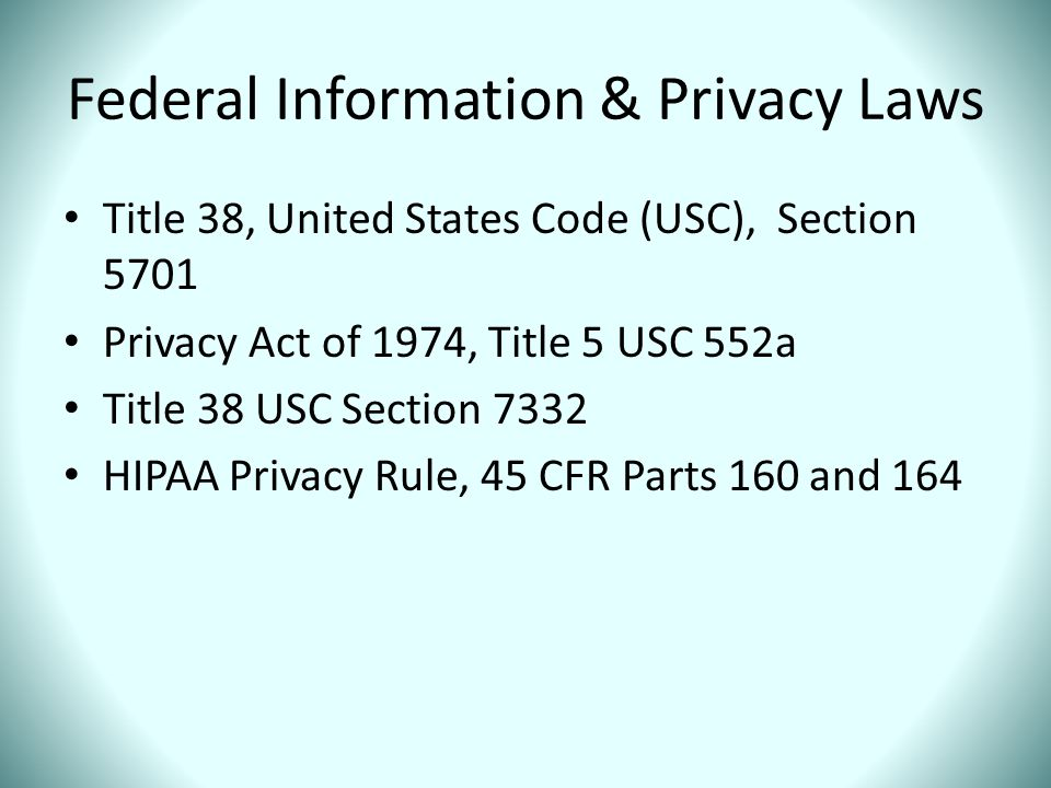 Federal Information & Privacy Laws
