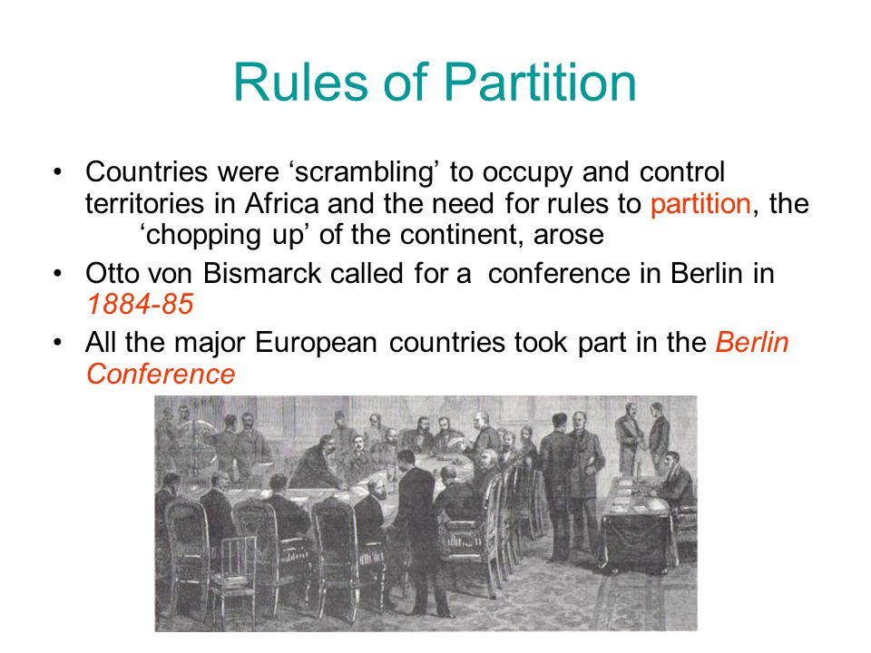 Rules of Partition