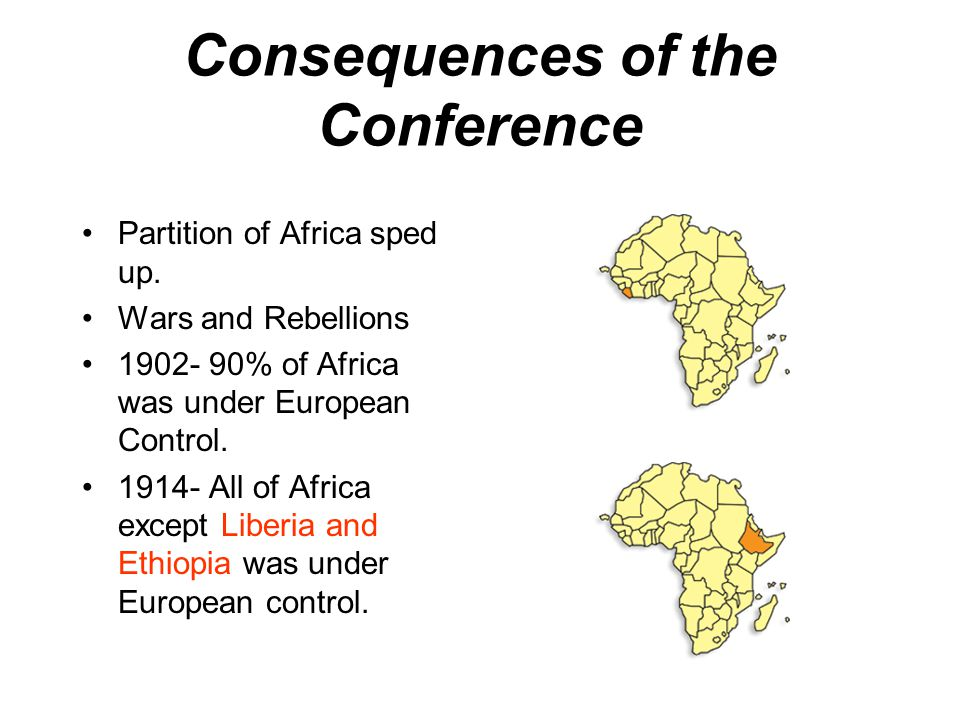 Consequences of the Conference