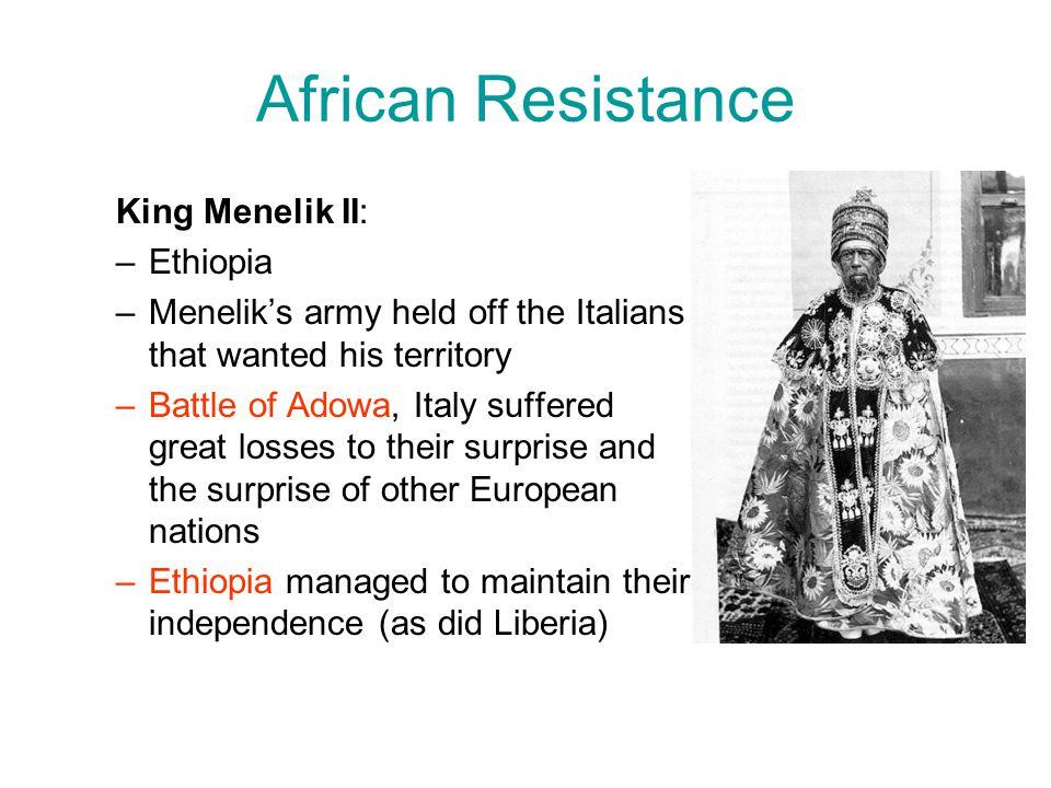African Resistance King Menelik II: Ethiopia