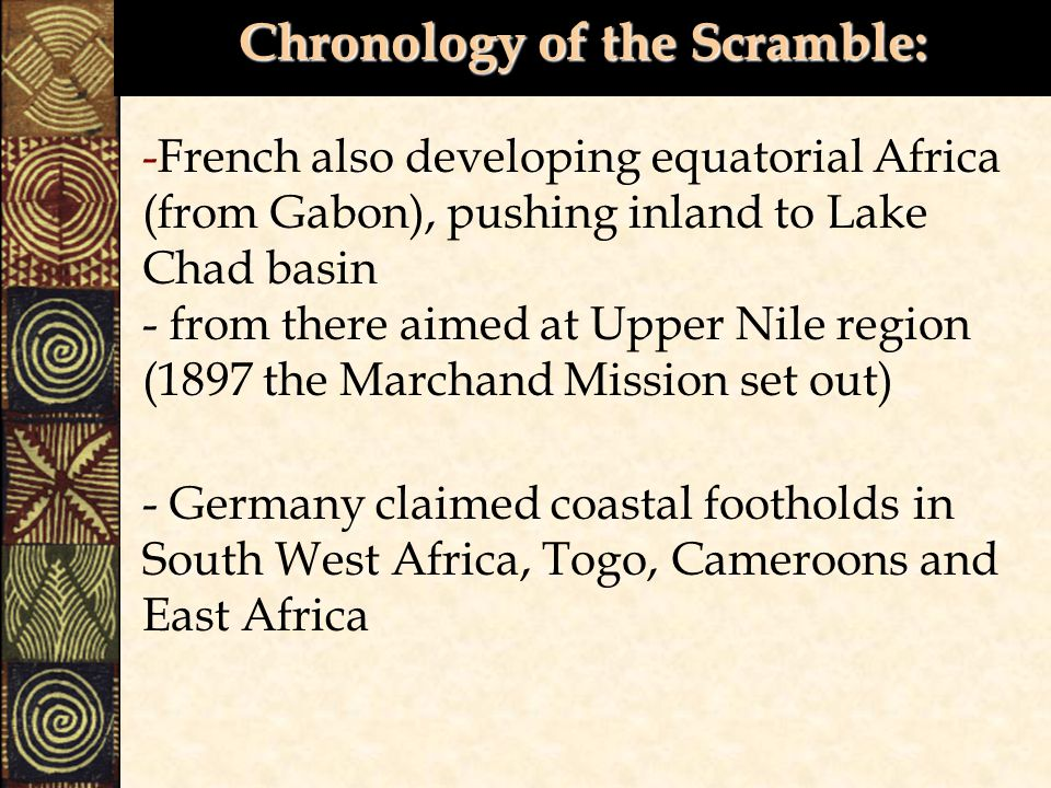 Chronology of the Scramble: