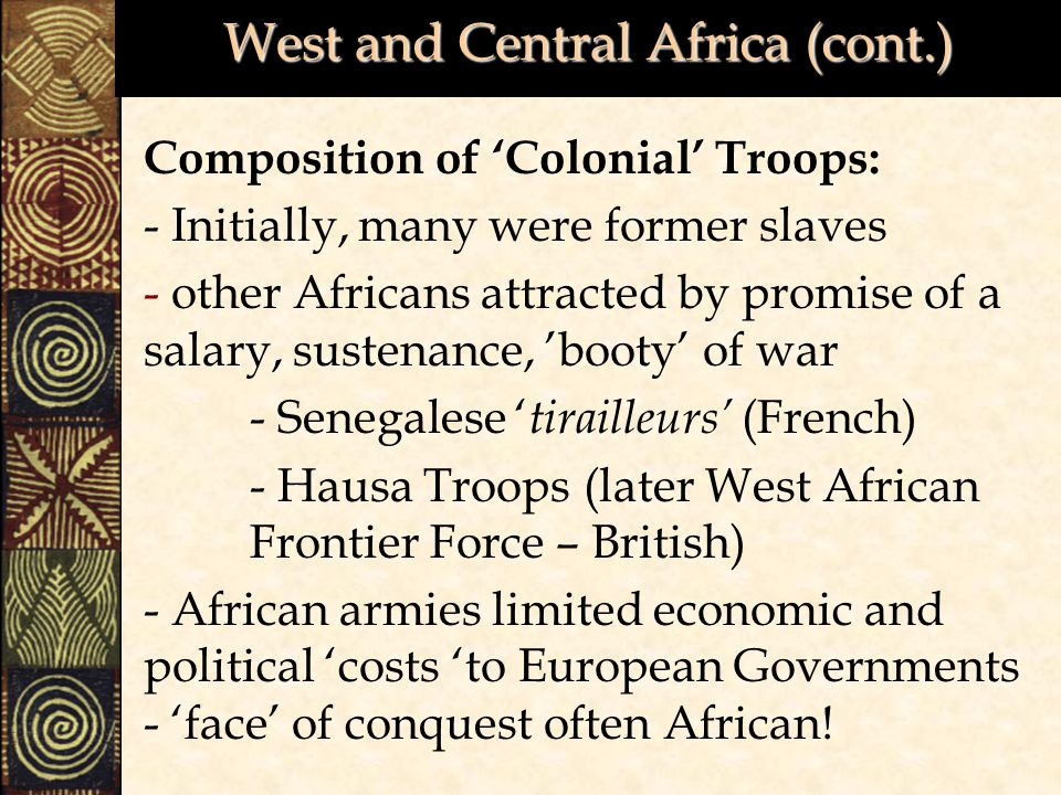 West and Central Africa (cont.)